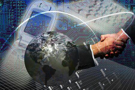 worldwide web: la tecnolog�a e internet en todo el mundo web concepto  Foto de archivo