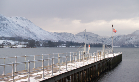 wintery: A wintery pier in the English Lake District