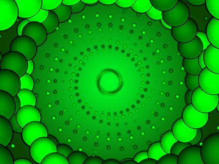 particle: green abstract background, green form, particle bubble