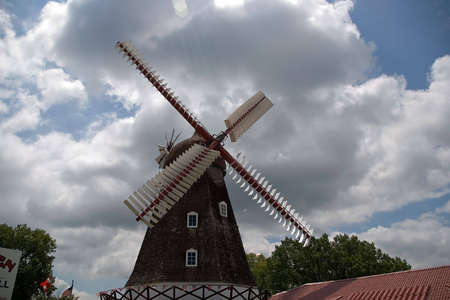 dutch: Dutch Windmill Stock Photo