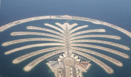 occupancy: Jumeirah Palm Island Development In Dubai  Editorial