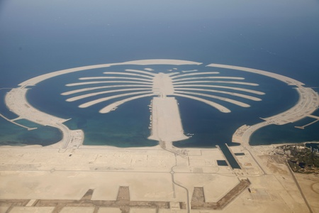 Jumeirah Palm Island Development In Dubai  Editorial