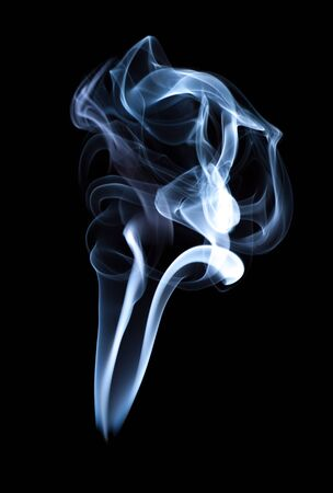 Smoke, black background