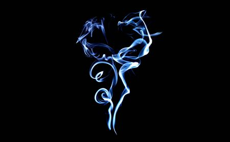 Smoke, black background