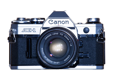 vintage analogue film camera canon Éditoriale