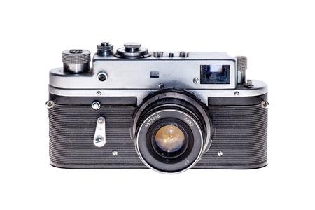 Vintage analogique film caméra fond isolé Banque d'images - 74464628