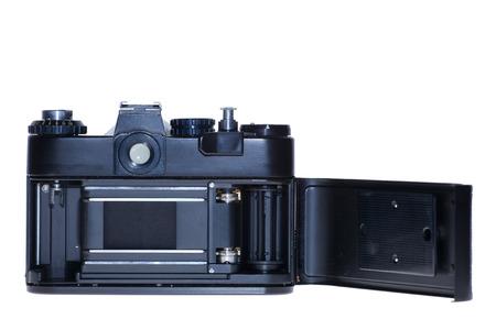 vintage analogue film camera isolated background