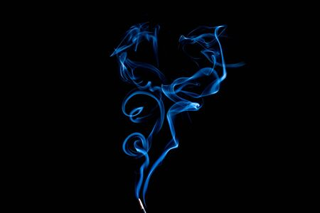 Beautiful Blue smoke on white background Banque d'images - 147335775