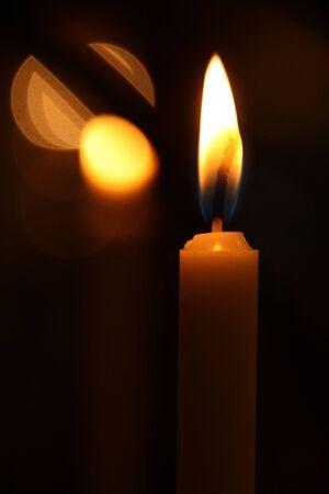 lit candle photo