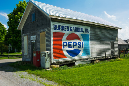 old store building in burkes gardenva with a painted pepsi sign on wall - Burkes Garden Va