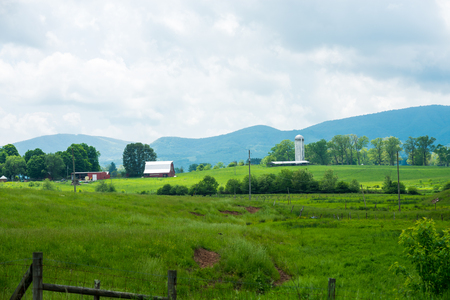 Farm With Silo In Burkes Garden,VA Stock Photo, Picture And Royalty ...