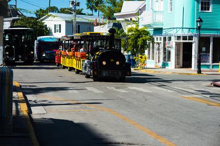 Trolley train in Key West Florida.