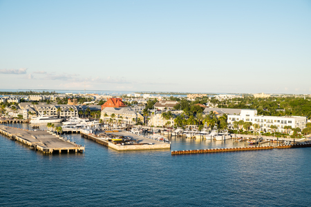 Docks at Key West from the deck of a cruise ship. Stock fotó
