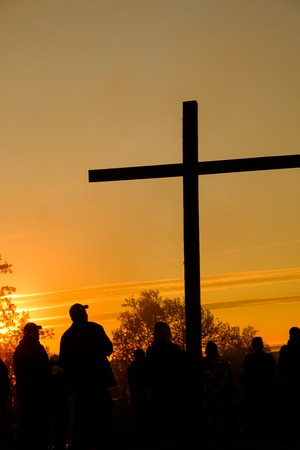 Easter sunrise service on a mountaintop in Virginia.