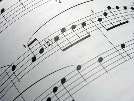 transcription: Curved Sheet Music Stock Photo