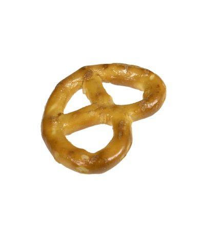 pretzel: Single Pretzel Isolated Stock Photo