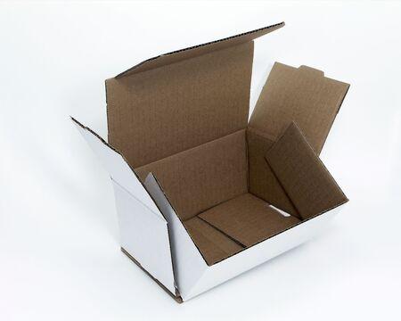 Open white box Reklamní fotografie