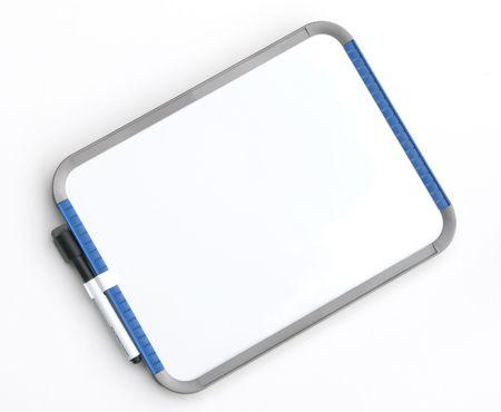 Blank dry erase memo board