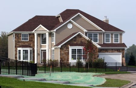 高級な新しい建設モデルハウス 写真素材