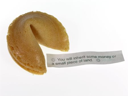 predictions: Chinese fortune cookie and fortune Stock Photo