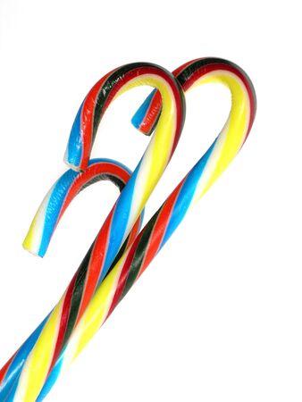 クリスマスのキャンディの杖は白
