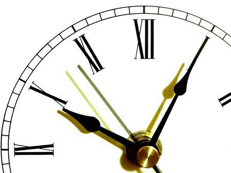 時計の表面の色の影と分離 写真素材