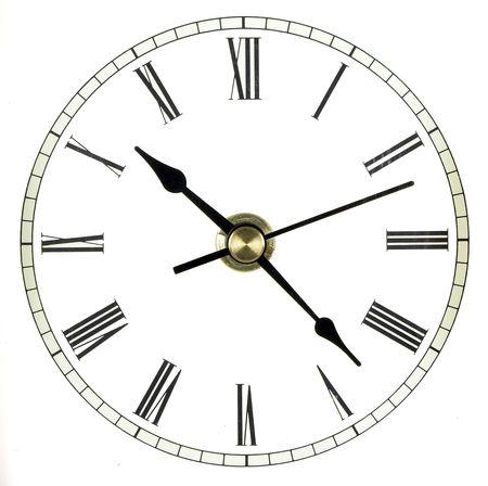 numeros romanos: Completo reloj aislado m�s de blanco