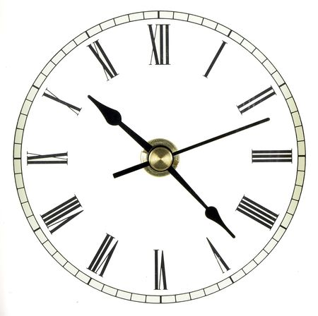 numerals: Full clock face isolated over white