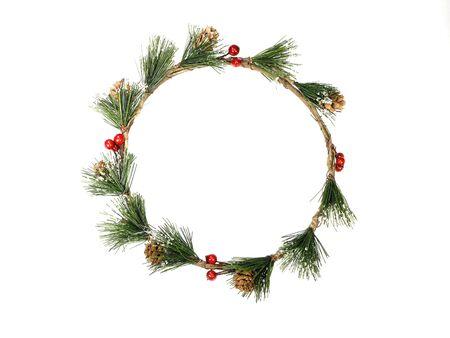 白ラウンド クリスマス フレーム