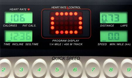 exercise machine electronic control panel