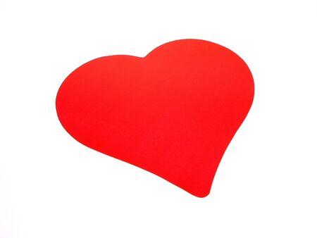 分離された大きな赤いバレンタイン ハート 写真素材