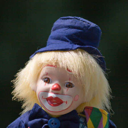 Head and shoulders of clown figure