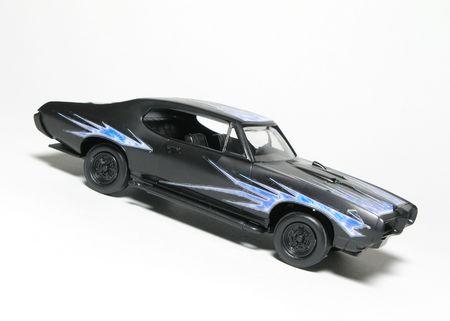 Sporty speelgoed model auto geïsoleerde over wit