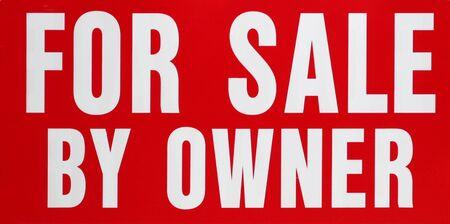 赤と白の所有者による販売のための記号します。