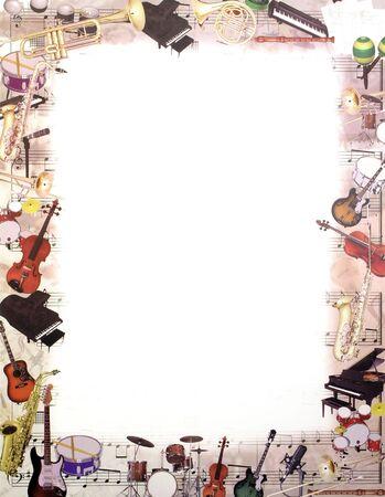 trombón: Musical y la orquesta m�ltiples instrumento escrito almohadilla