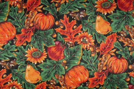 Fall autumn linen background