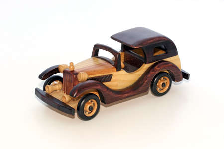 Wood model vintage roadster for home accent and decoration Stok Fotoğraf