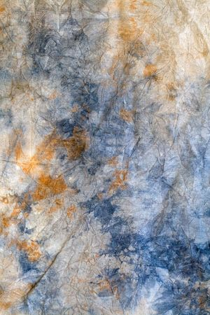 muslin: A colorful painted muslin canvas background vertically framed Stock Photo