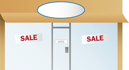 Retail Shop Front Vector
