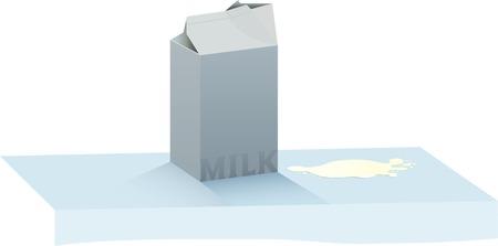 spillage: La leche de cart�n Vectores