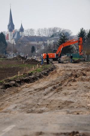 compulsory: Construction site in rural area Editorial