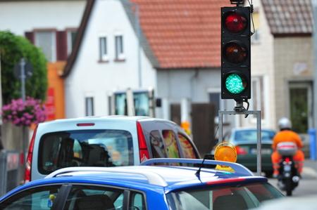 redirection: Traffic jam with green light