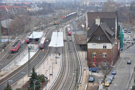 railway station: Railway station Worms am Rhein