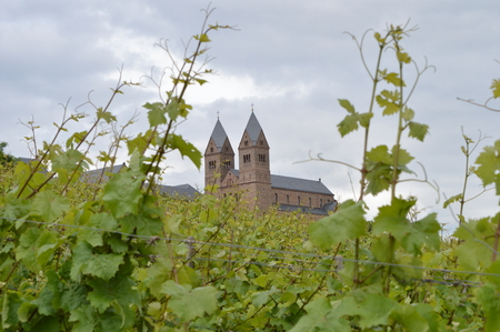 spiritual architecture: Abbey St. Hildegard near Ruedesheim am Rhein Germany