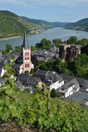 rhine: River rhine Unesco world heritage Stock Photo