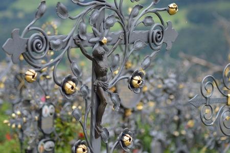 tirol: Graveyard between the churches of Villanders