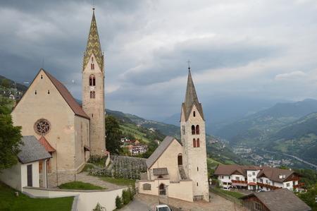 tirol: Churches of Villanders, left the parsonage parish church