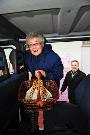 old bus: Worms, Germany - December 23, 2012: City of Worms sponsors shuttle service to help elder people shopping Editorial
