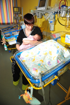 premature: Worms, Germany - June 9, 2013 - Clinic of Worms is a specialist for premature infants