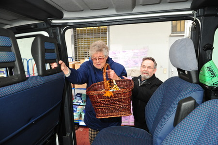 sponsors: Worms, Germany - December 23, 2012: City of Worms sponsors shuttle service to help elder people shopping Editorial
